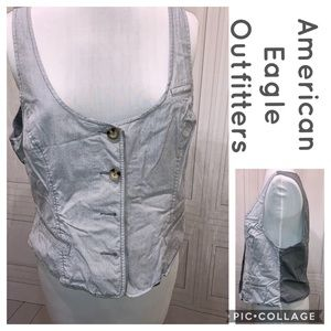 American Eagle Outfitters Striped Vest